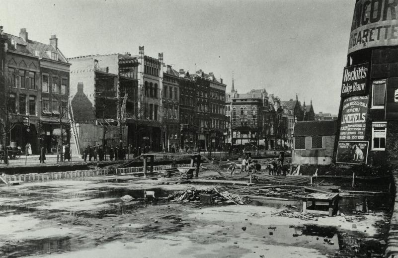 Het dempen van de Coolsingel in 1914