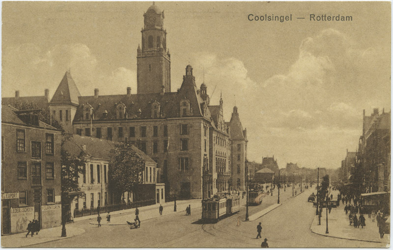 Stadhuis aan de Coolsingel in 1923
