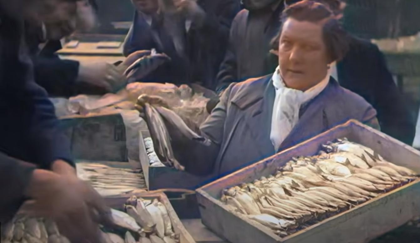 vismarkt blaak in 1920