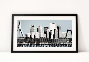 Art of Rotterdam Skyline Rotterdam