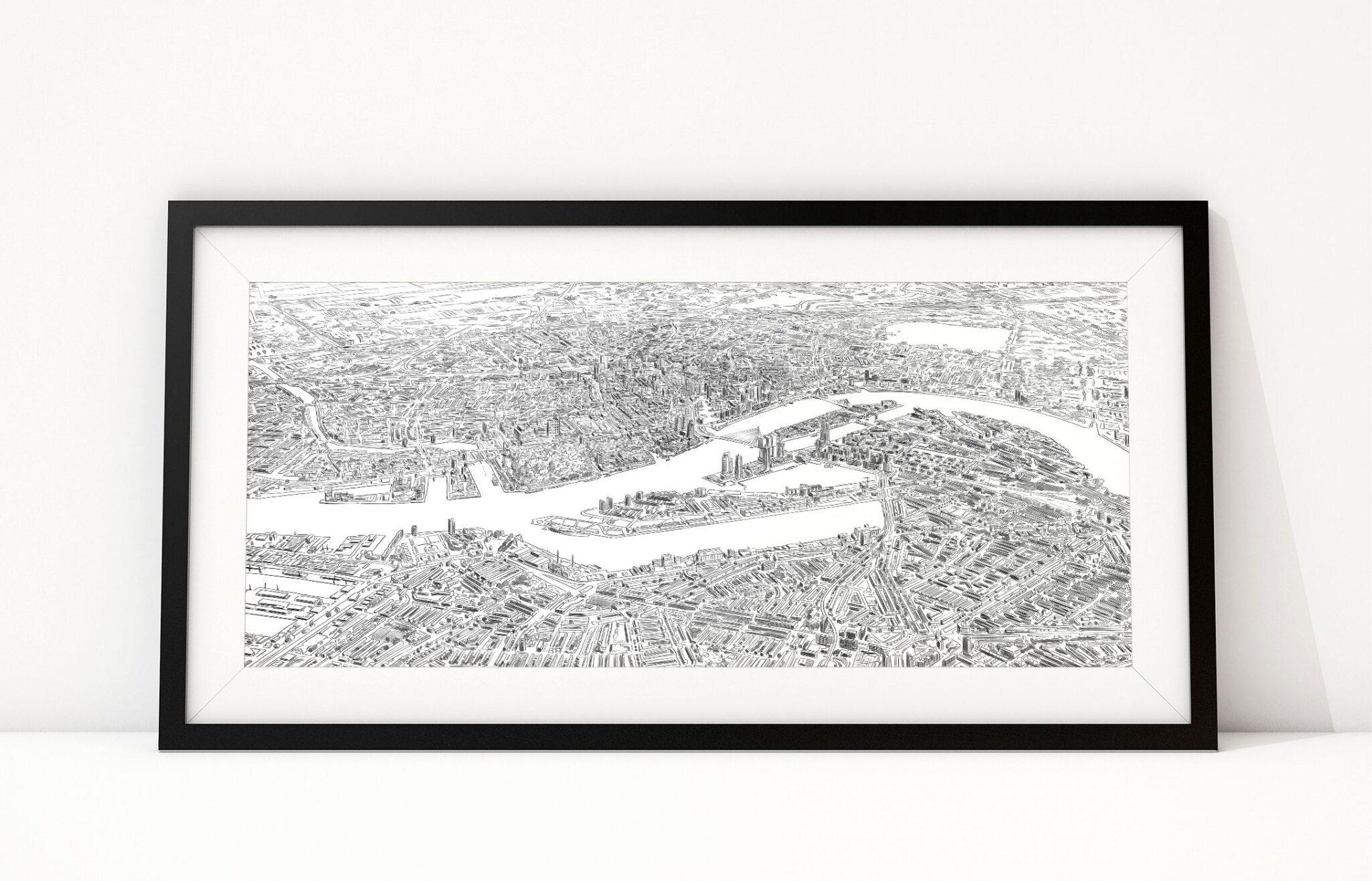 Art of Rotterdam Birdseye