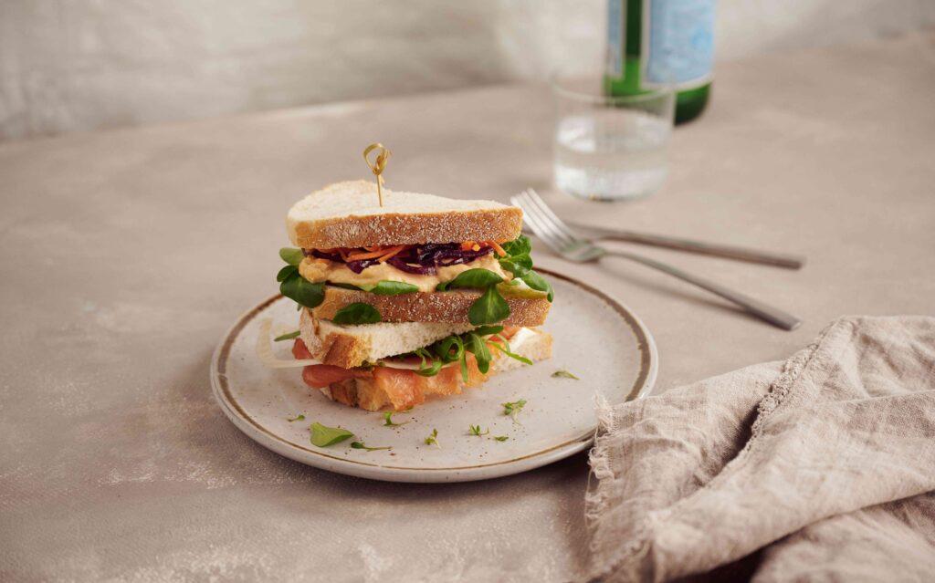 Bijenkorf Rotterdam restaurant the Kitchen fish tales sandwich