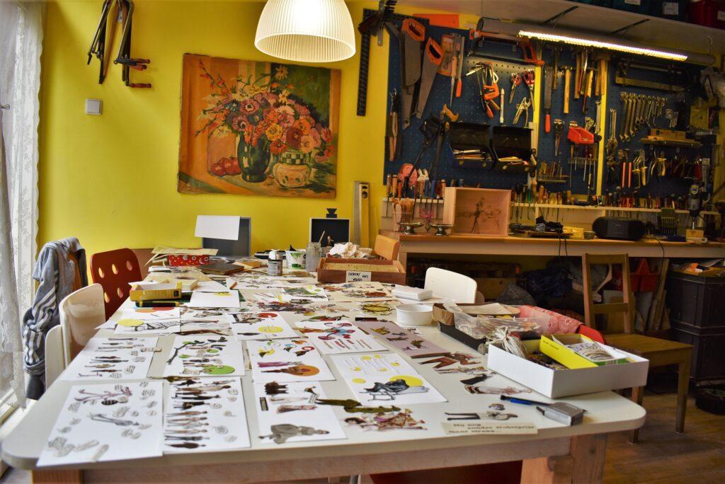 oma's postkantoortje workshoptafel