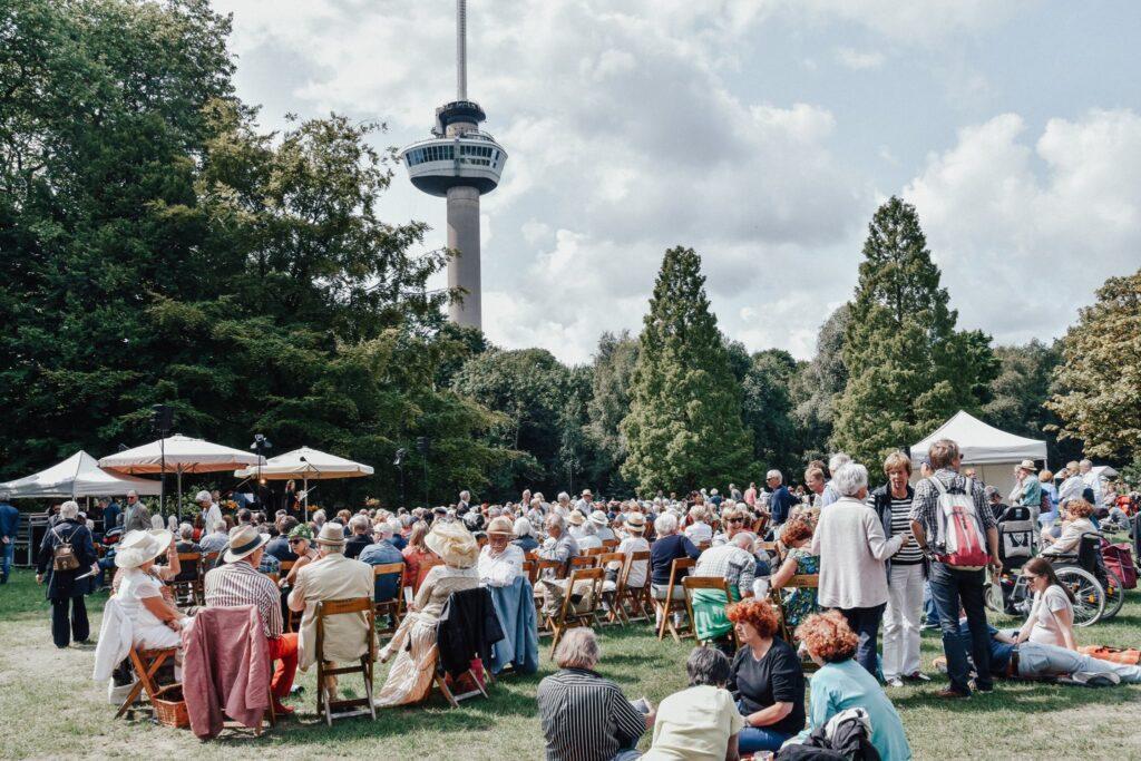 dag van de romantische muziek het park festival