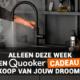 Quooker cadeau Keukenloods.nl nieuwe keuken