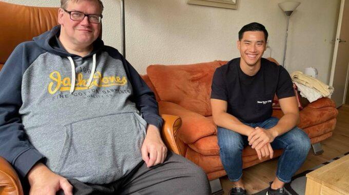Nick en Thi bezoekmaatje UVV Rotterdam
