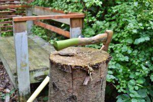 binnenkijken bij annemarie hout hakken