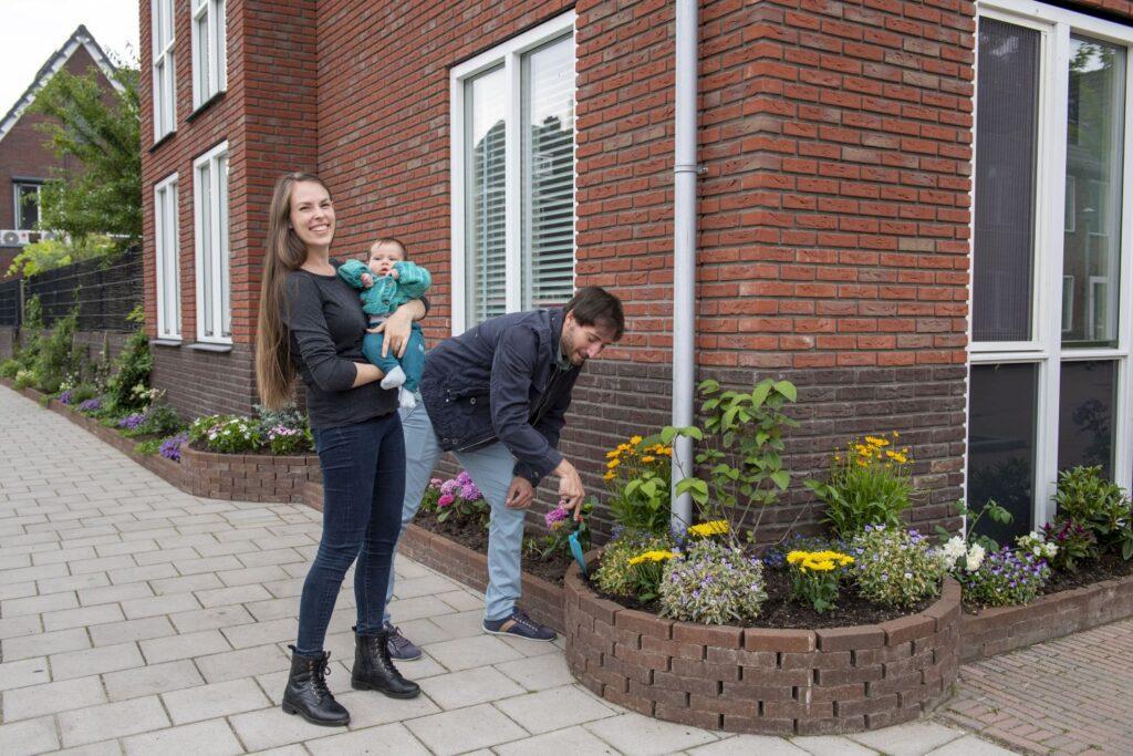 Schiedam Waterklaar, stoeptuin van Dahpne 1