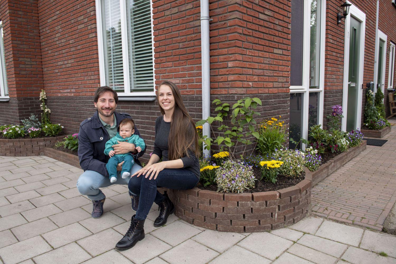 Schiedam Waterklaar, stoeptuin van Dahpne 4