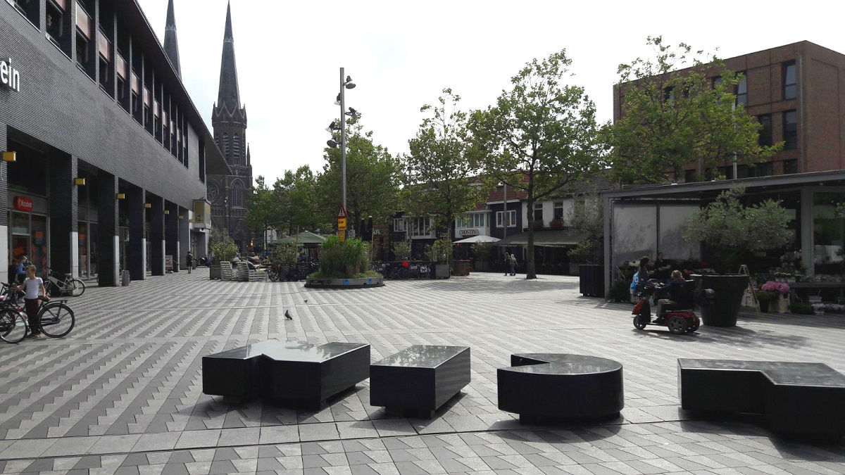Het Pieter Vreedeplein in Tilburg