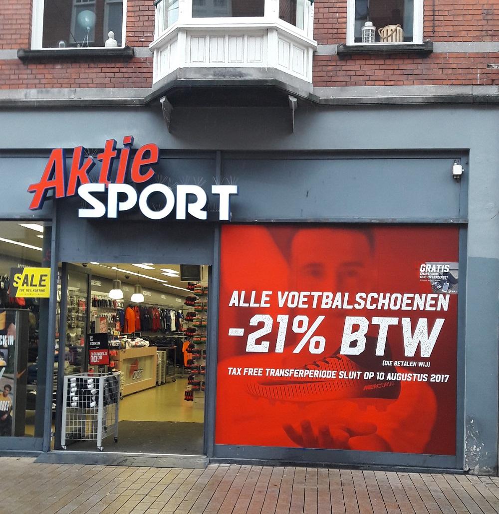 Voetbalschoenen geen BTW betalen Aktie Sport
