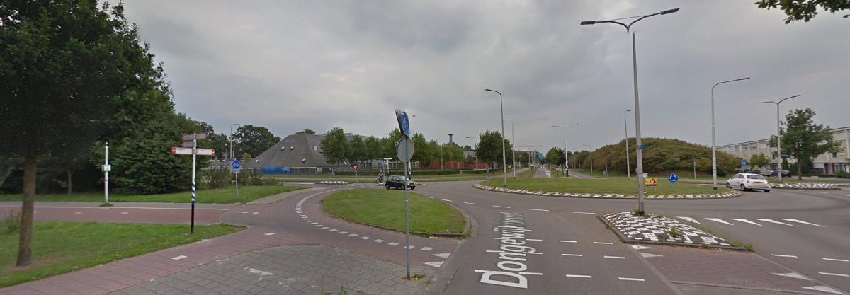 Rotonde bij Beatrix College Tilburg
