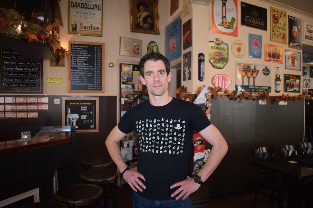 Barman Kevin van Café Kandinsky