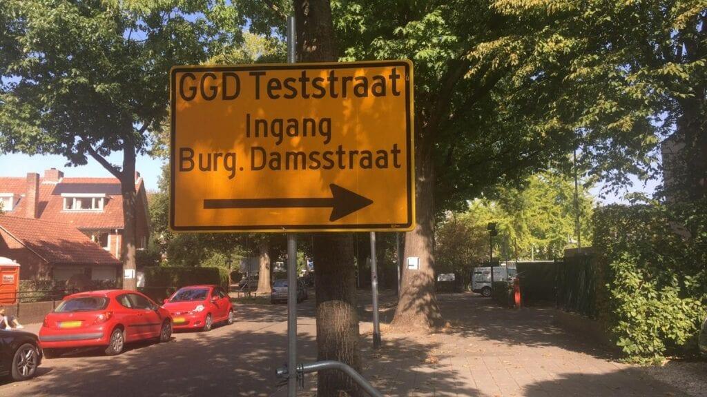 coronatest Tilburg corona positief getest Burgemeester Damsstraat