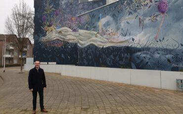 Collin van der Sluis muurschilderingen wethouder Mario Jacobs