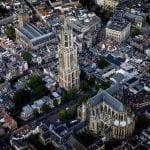 Utrecht Domtoren luchtfoto