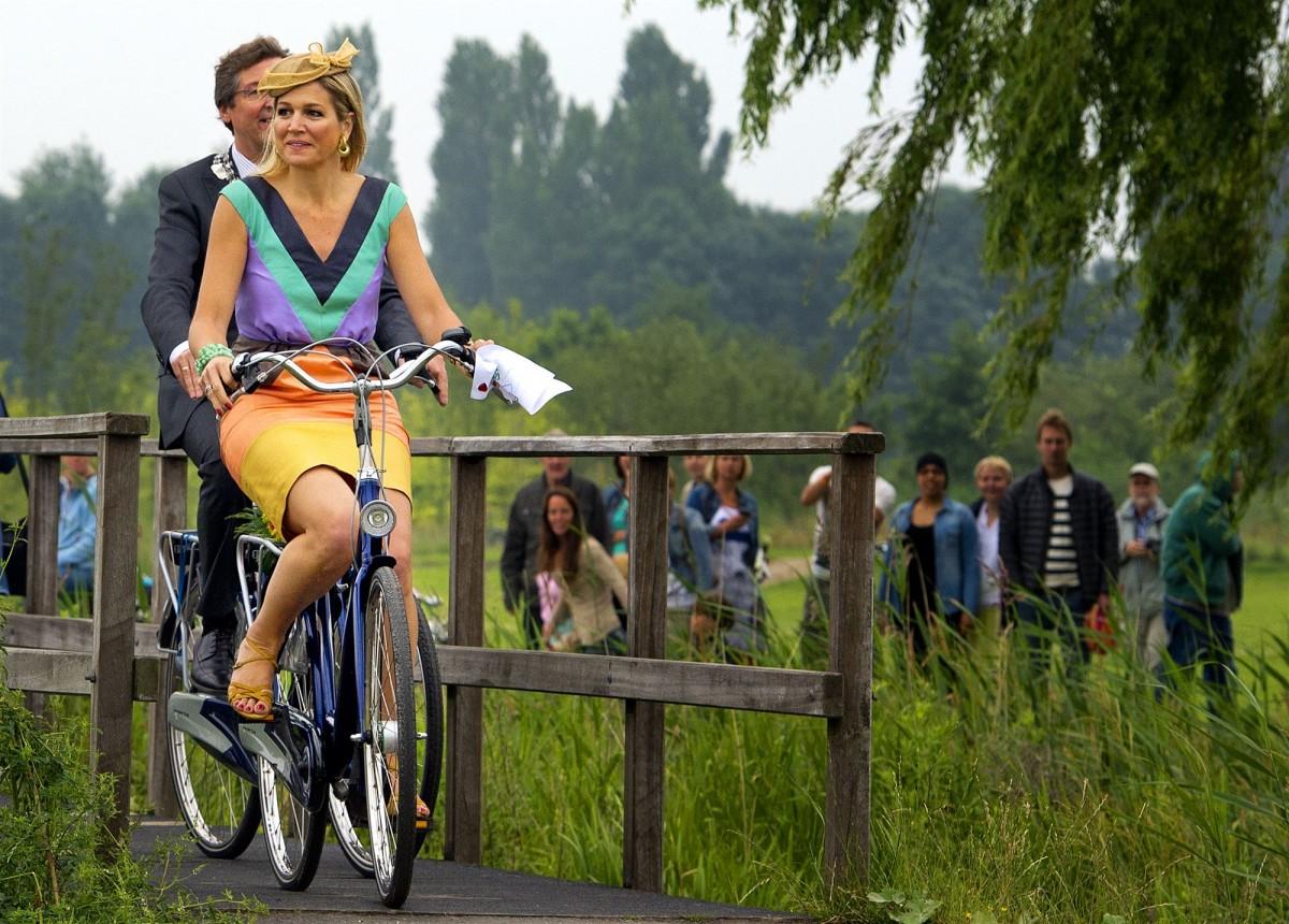 Koningin Maxima in het Maxima Park in Leidsche Rijn