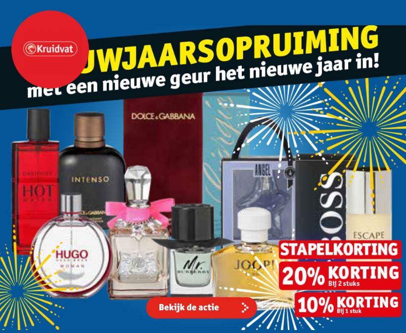 nieuwjaarsopruiming kruidvat parfum