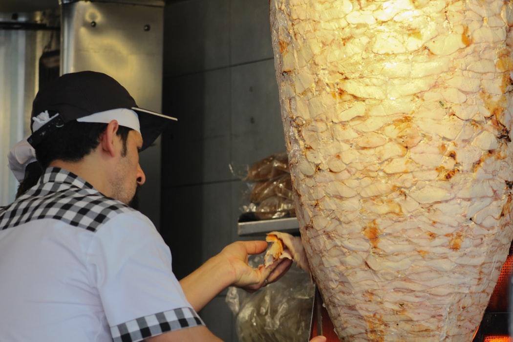 Kebab fastfood snelle hap op Utrecht Centraal