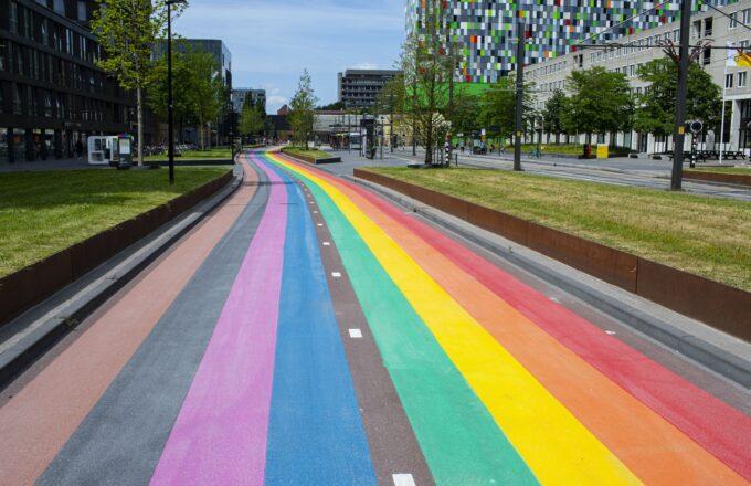 Regenboogfietspad Utrecht