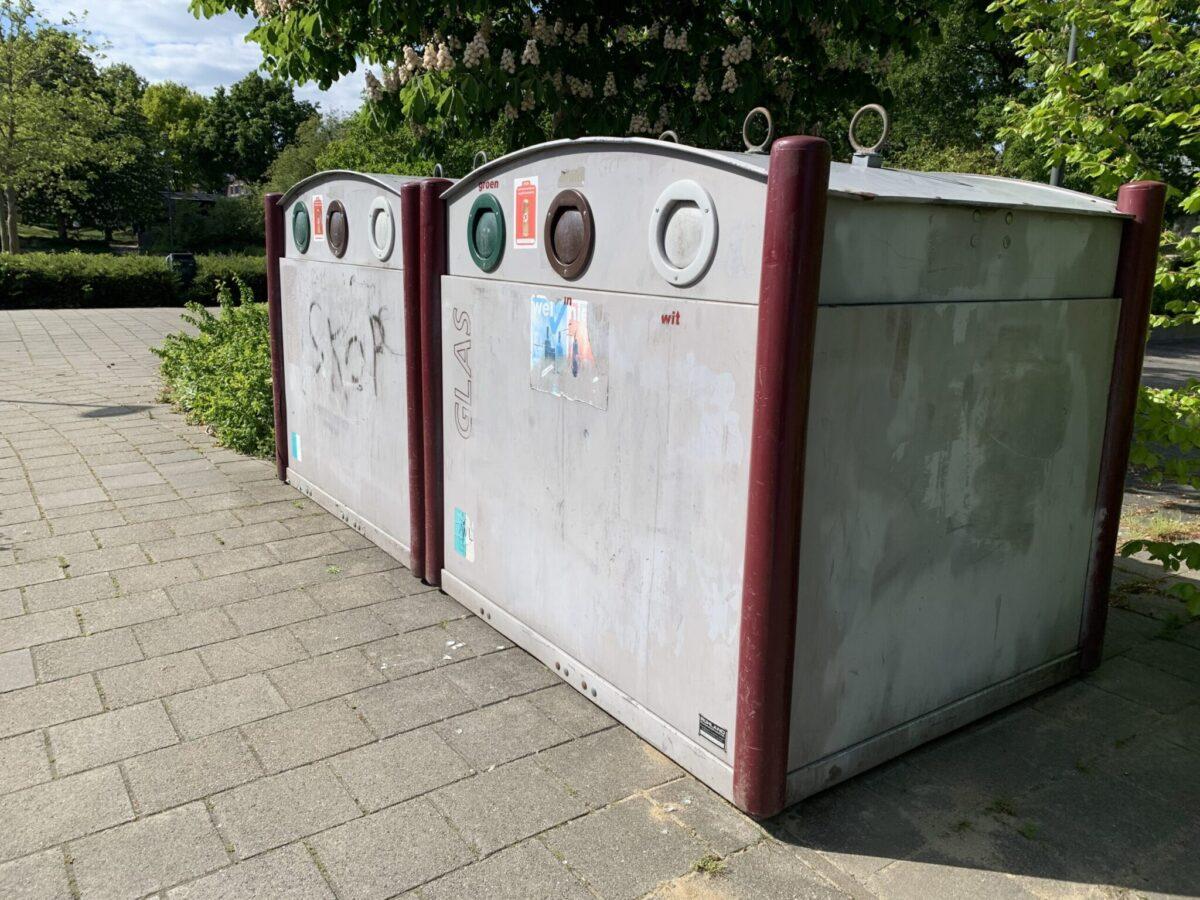 Glasbak in Veenendaal