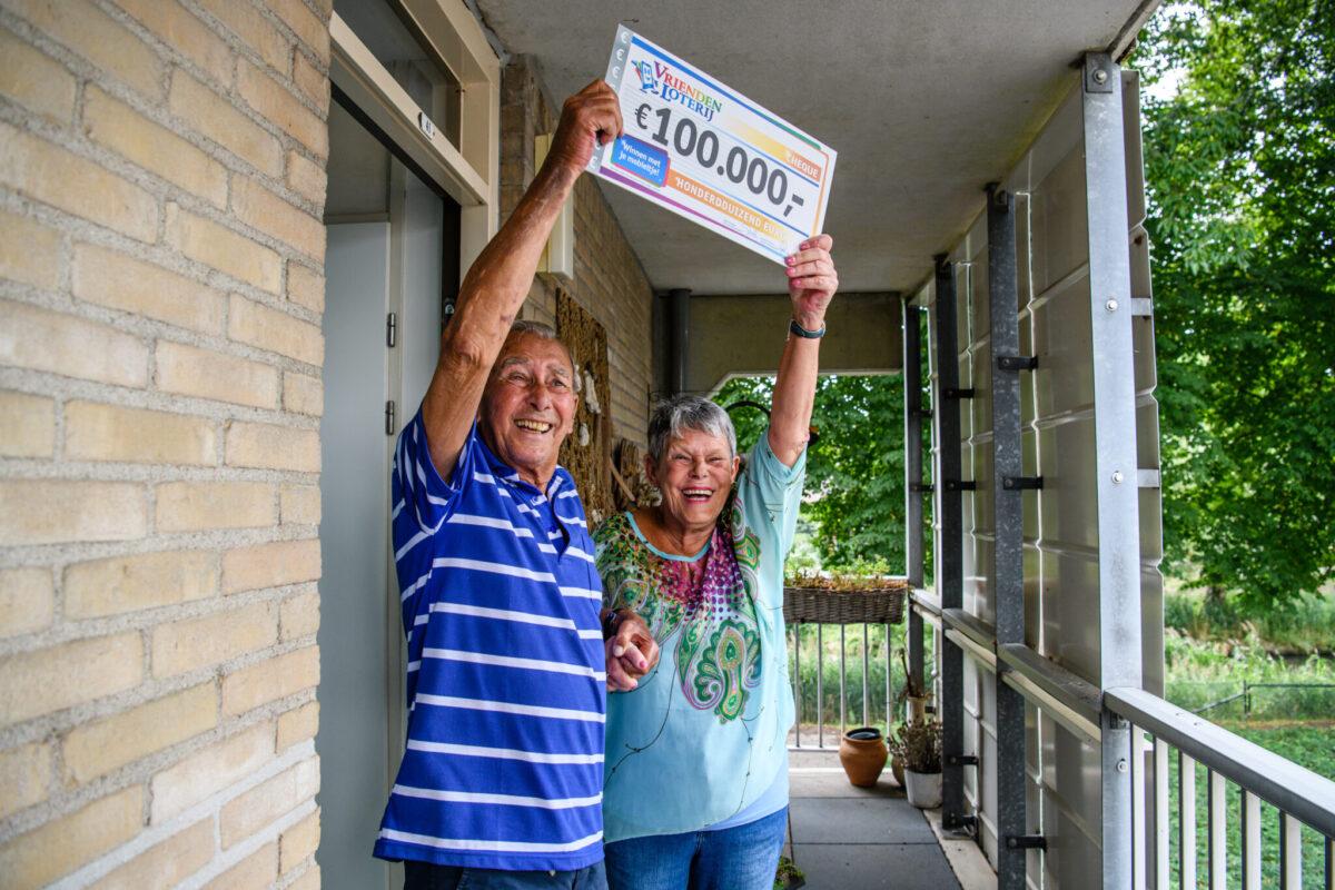 Wietske en haar man uit Veenendaal winnen 100.000 euro