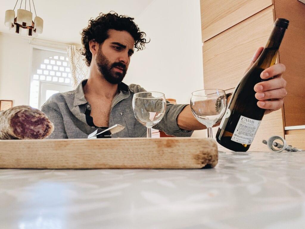 wijn in aanbieding