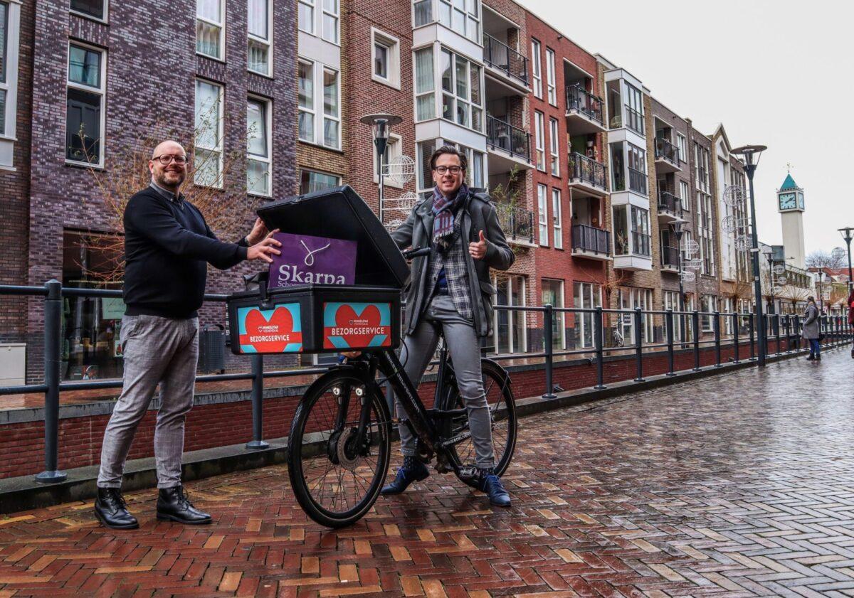 Henny Jansen, binnenstadsmanager Winkelstad Veenendaal en Dylan Lochtenberg, wethouder gemeente Veenendaal (Foto: Raoni van de Pol)