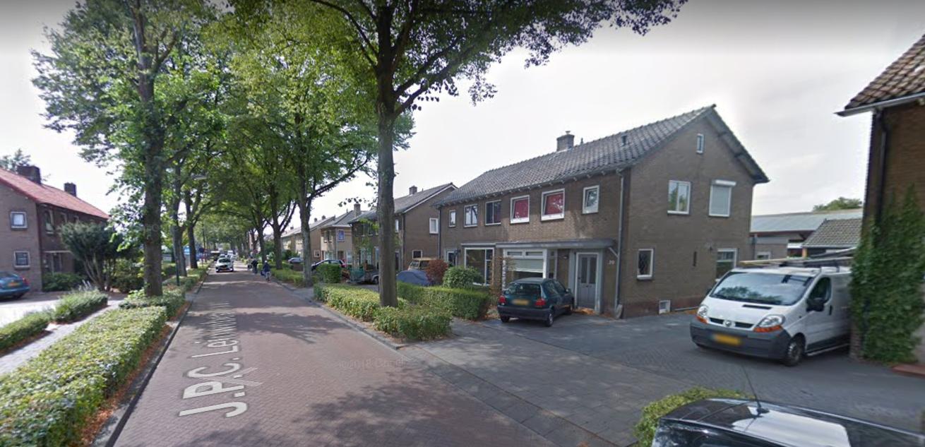 De Leinweberstraat, de zijstraat van de Zandstraat in Veenendaa