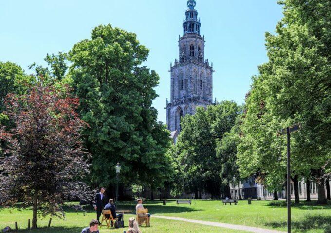 Bastion Groningen 1. Onderschrift_ Martinitoren _ Foto_ indebuurt