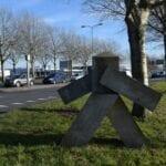 Stenen mannetje Europabaan Wulverhorstbaan Woerden Grenspaal