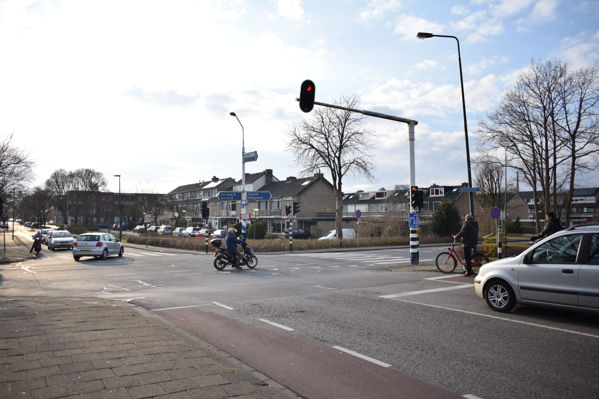Boerendijk Chrystantstraat kruispunt Bouwapp Woerden vervanging verkeerslichten