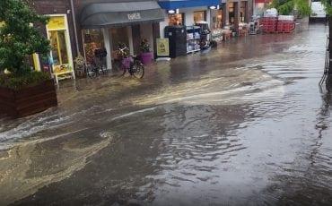 Wateroverlast Rijnstraat Woerden