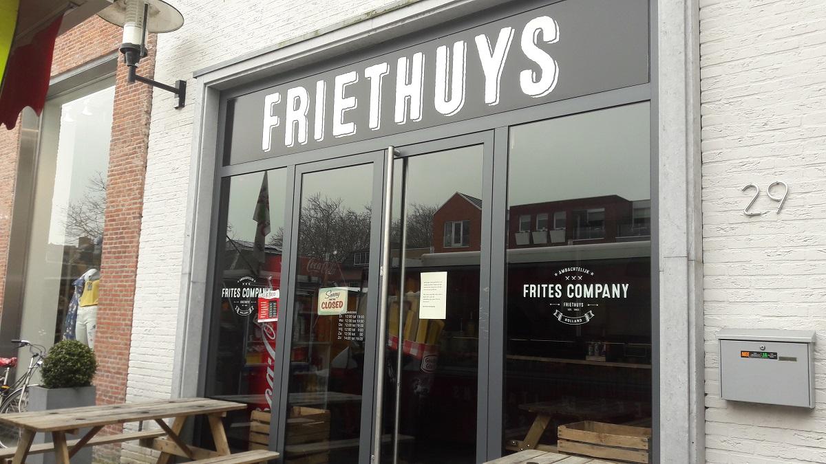 Friethuys gesloten Woerden Frites Company