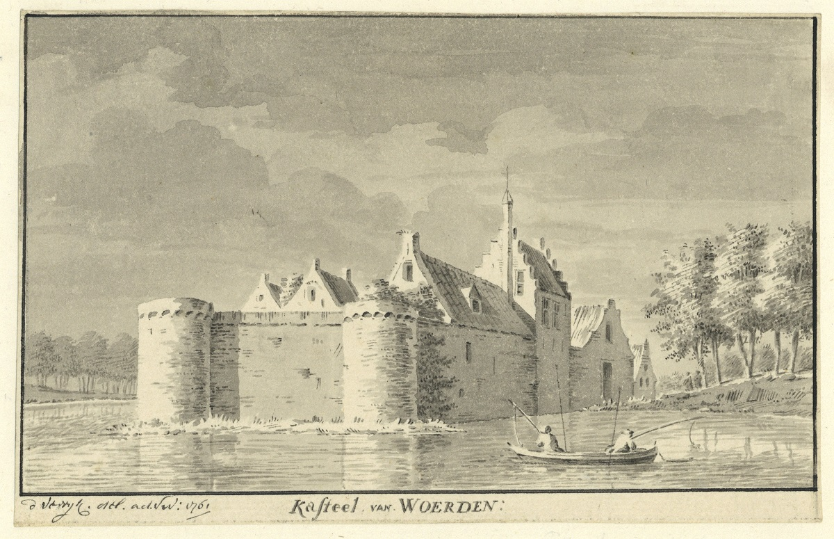 kasteel Woerden tekening 1761