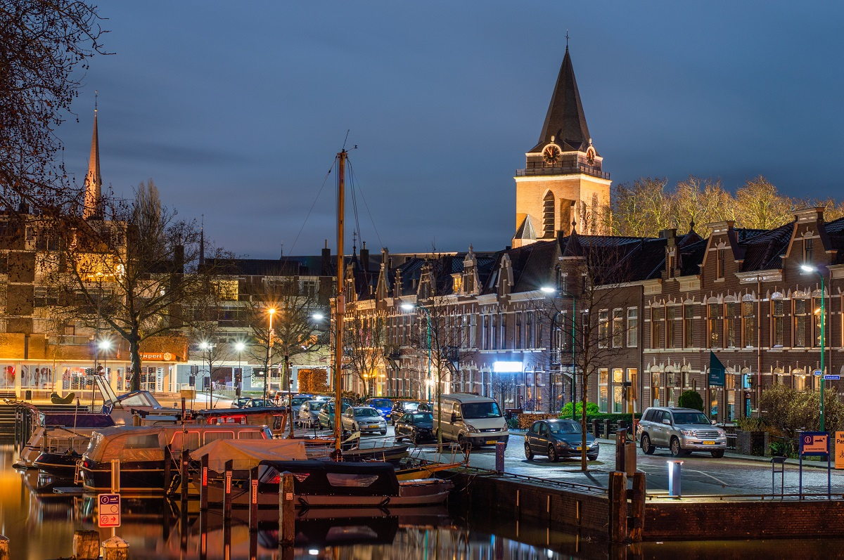 Nachtfoto Haven Woerden