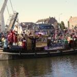 Chris Nieuwpoort tijdens de intocht van Sinterklaas