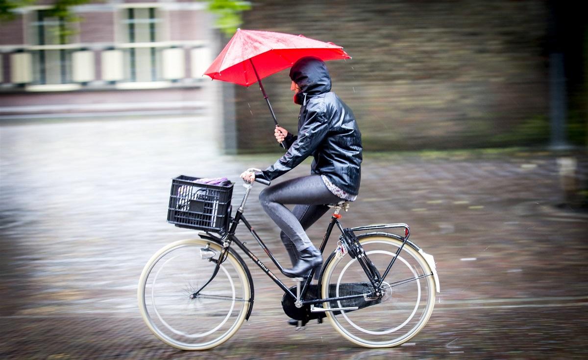 Paraplu fiets regen