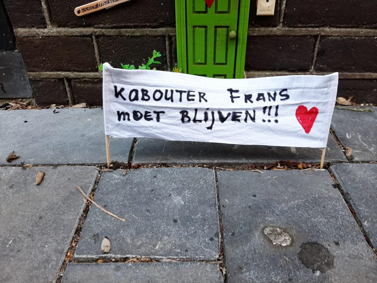 Stadskabouter Frans spandoek