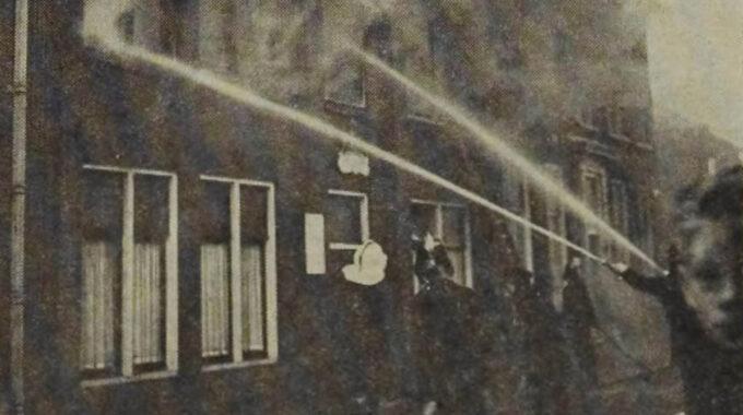 Brand belastingkantoor Woerden 1962