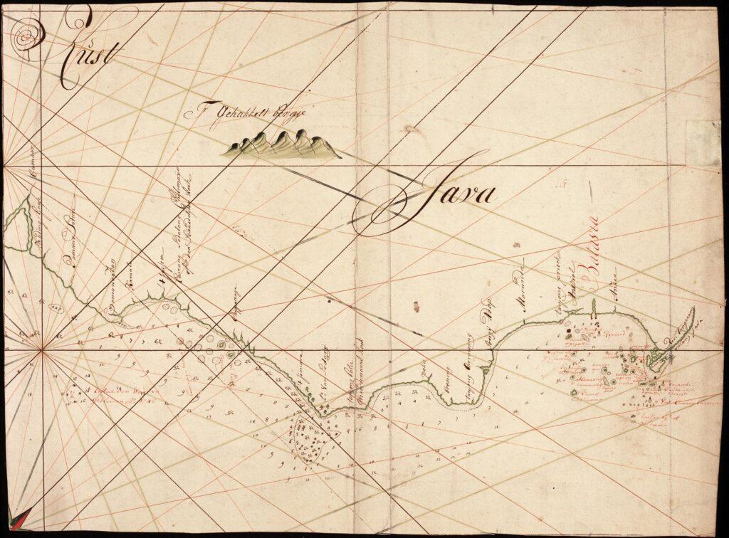 oude kaart Kasteel van Woerdens-klif