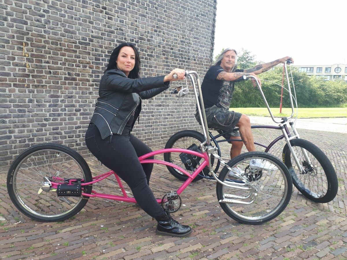 Joyce en Michel op chopper Zoetermeer