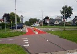 Rode vlakken Zegwaartseweg
