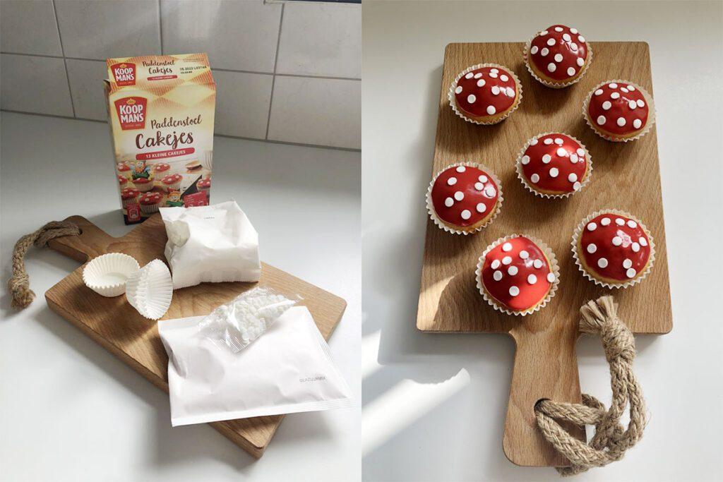 Lekkere paddenstoelen cupcakes maken