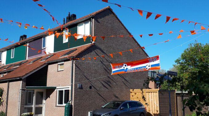 Oranjeversiering Zoetermeer