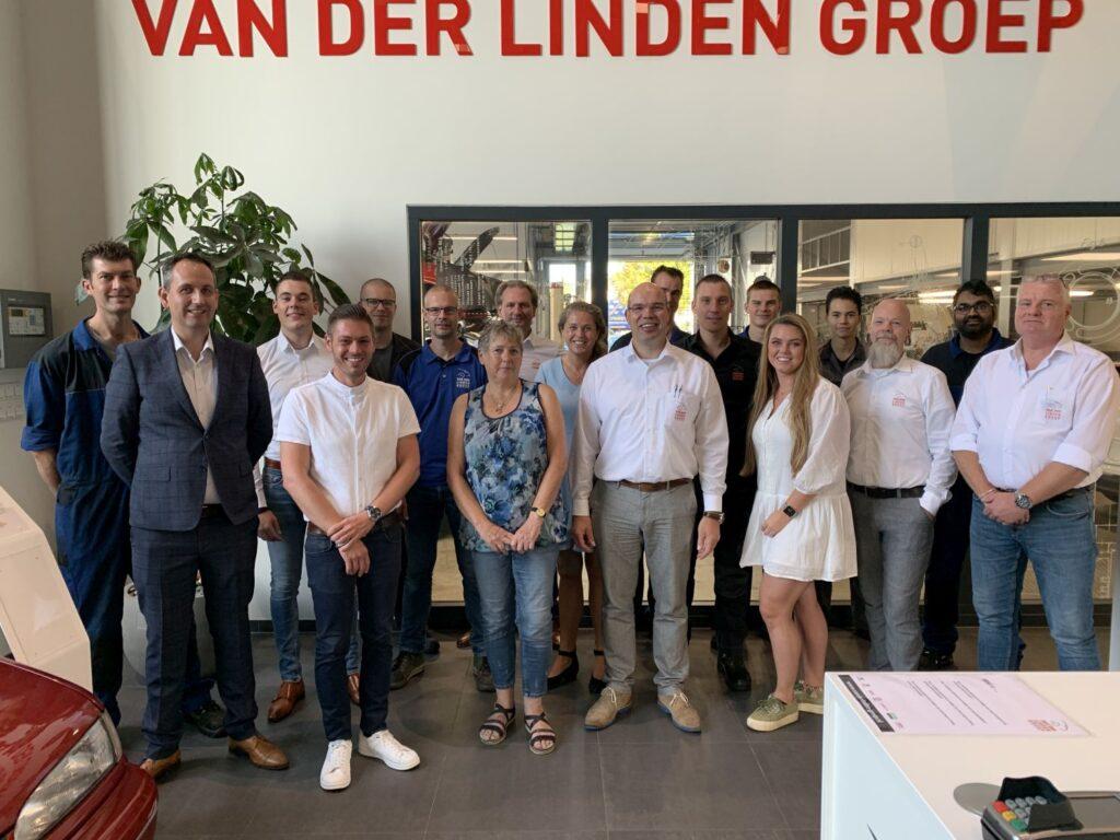 Van der Linden Groep teamfoto juli 2021