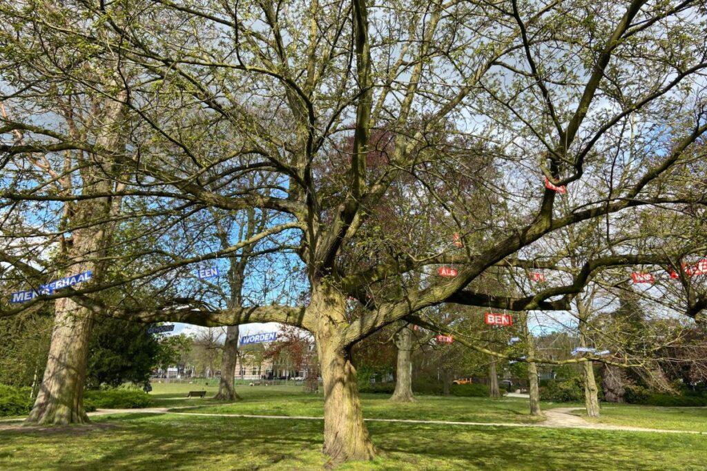 Bordjes park Eekhout Zwolle