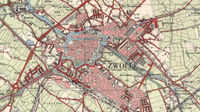 Zwolle kaart 1954
