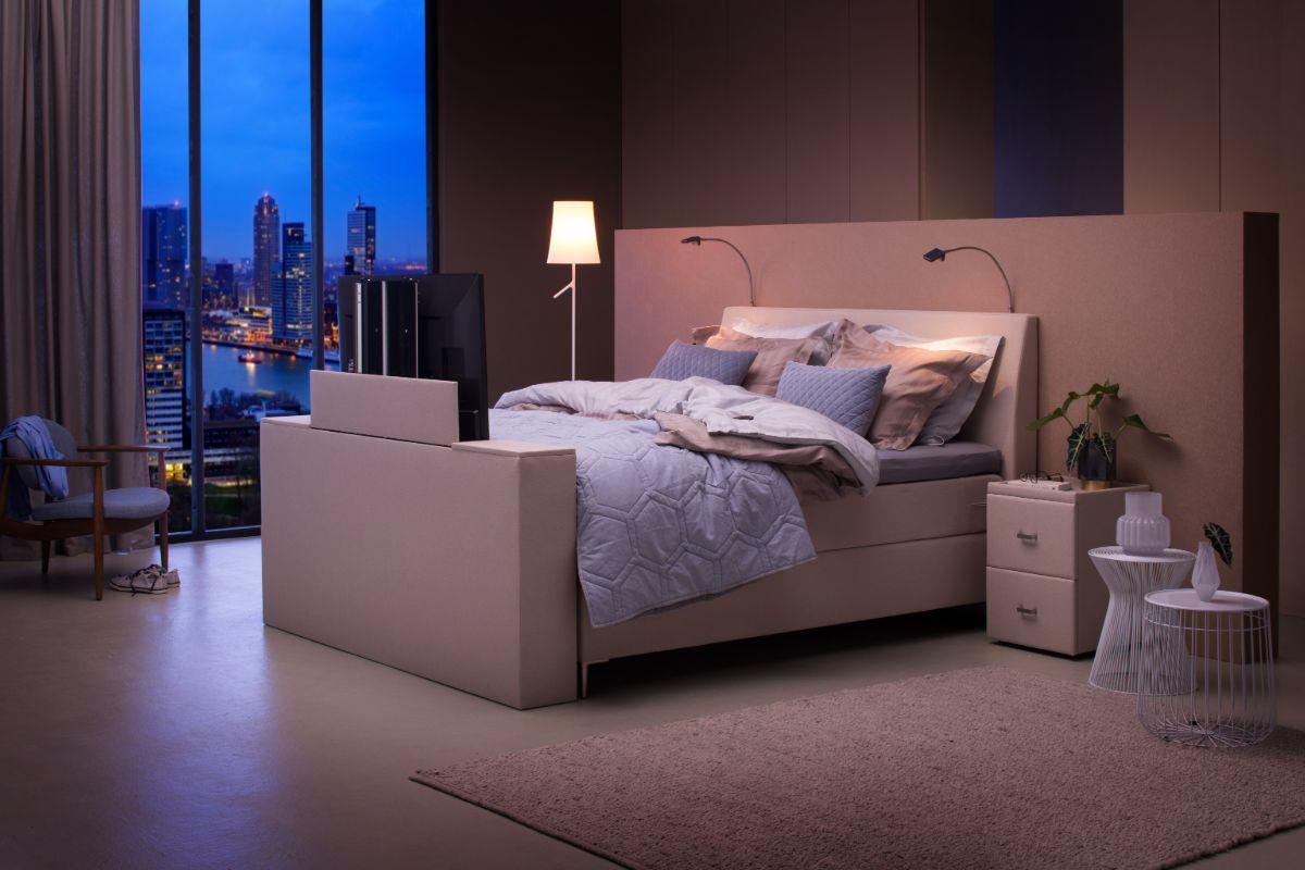 tv bed slaapkamer